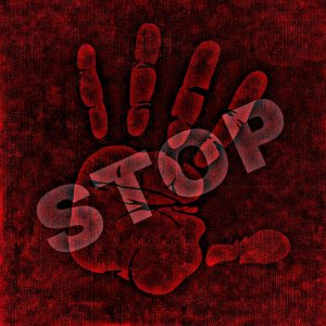 "alt=""red hand with stop written across"""